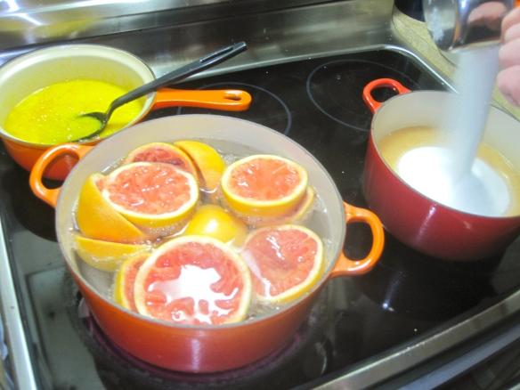 Grapefruit Peels, 1st blanching, membrane intact