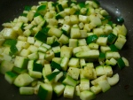 Zucchini and garlic