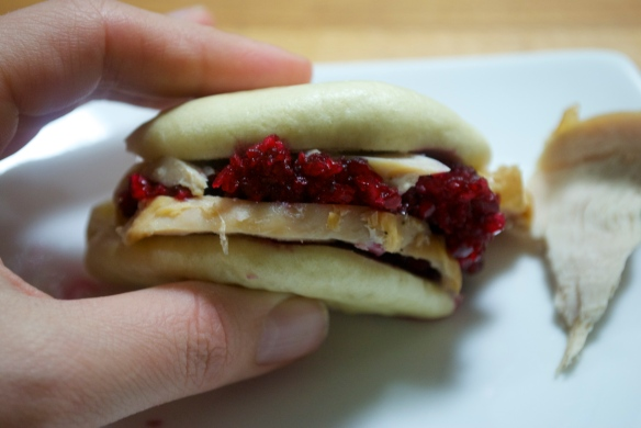 Turkey Cranberry Steamed Buns