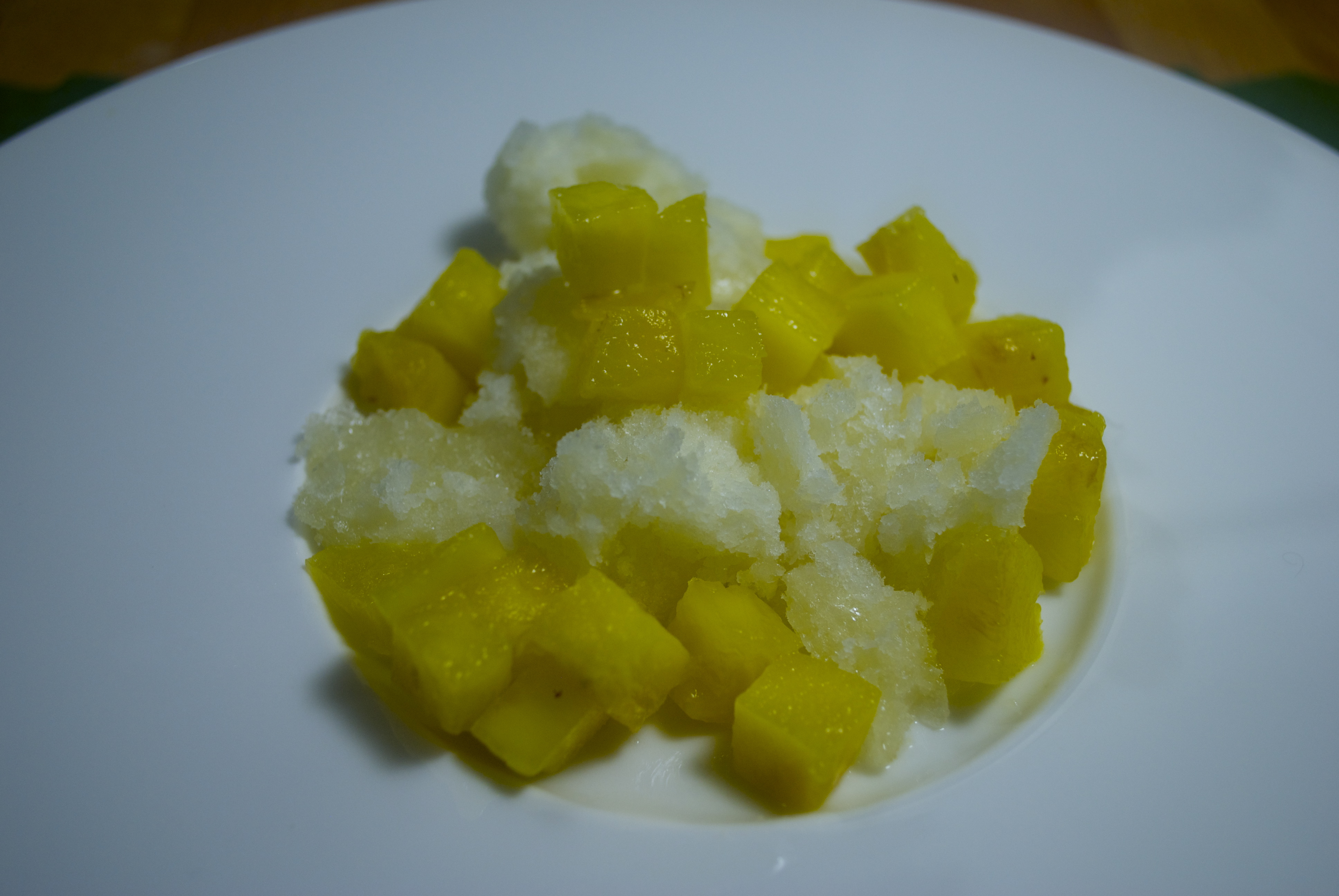 ... ginger ice ginger ice cream with melted got milk ginger ice milk and