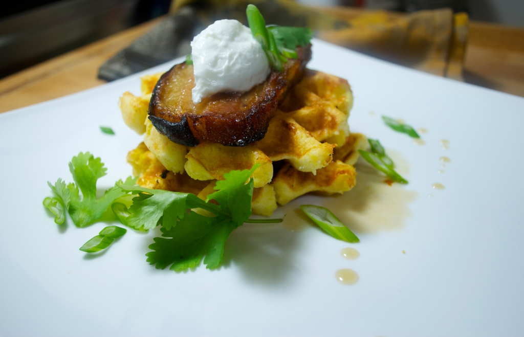 In the Belly of the Beast: Maple Pork Belly w. Corn Waffles