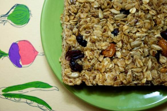 Homemade Cherry Almond Granola Bars