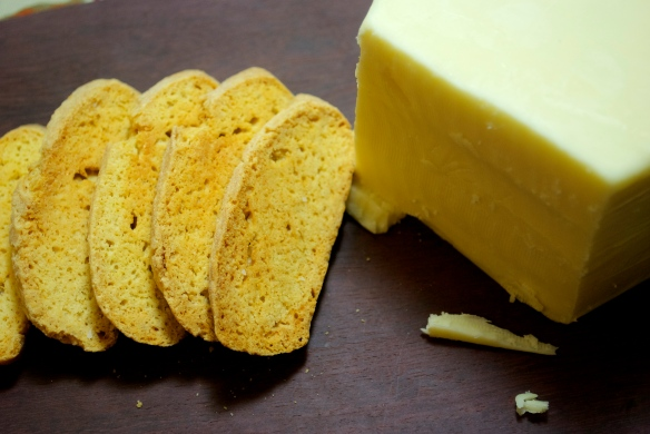 Cheddar and Cayenne Biscotti