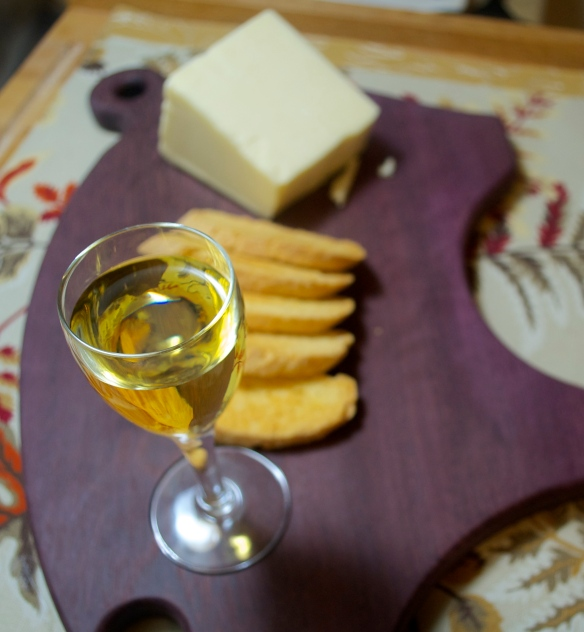 what goes better with a cheese biscotti than more cheese?