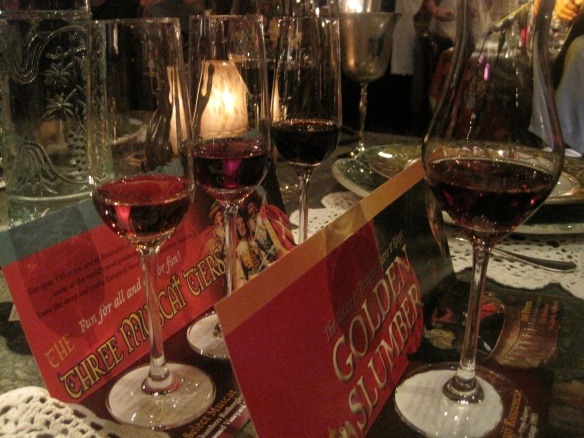 """Along with the included wine flight, my husband and I also got the """"Three Muscat-Tiers,"""" a trio of muscat wines from Australia."""