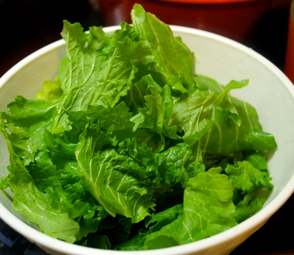 Mustard Greens, cleaned with stems removed