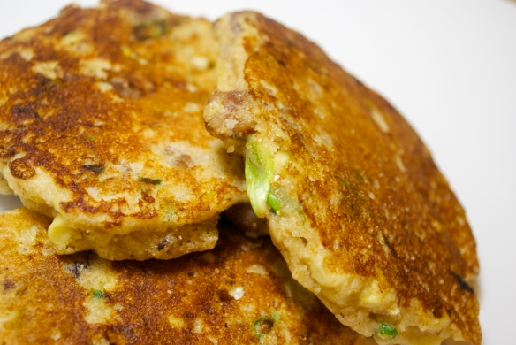Sausage & Corn Griddle Cakes