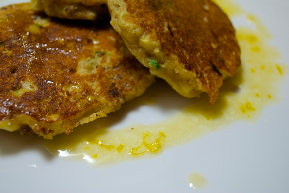 Corn & Sausage Griddle Cakes with Orange Honey Butter