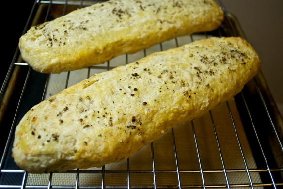Parmesan and Black Pepper Biscotti