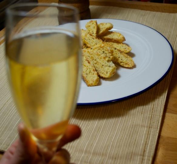 Champagne and Biscotti