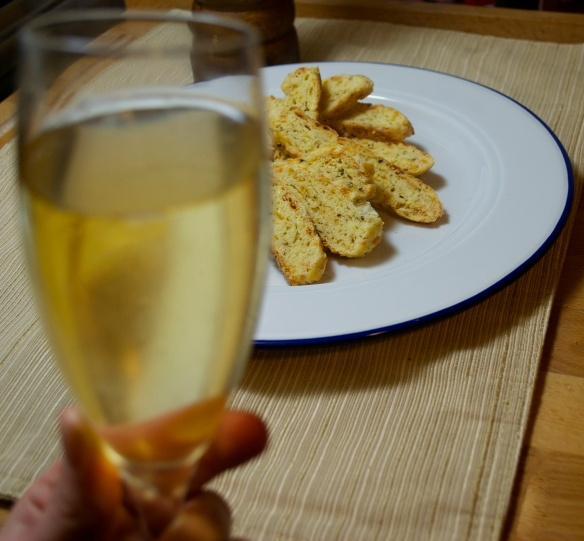 Champagne and Biscotti