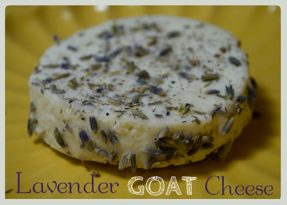 Homemade Lavender Rubbed Goat Cheese