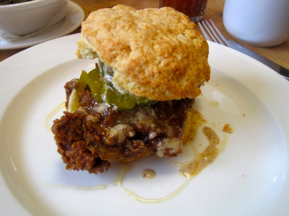 The Aunt Annie's Biscuit Sandwich at The Wandering Goose