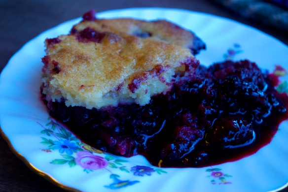 Mixed Berry Spoonbread Cake