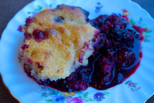 Mixed Berry Spoonbread