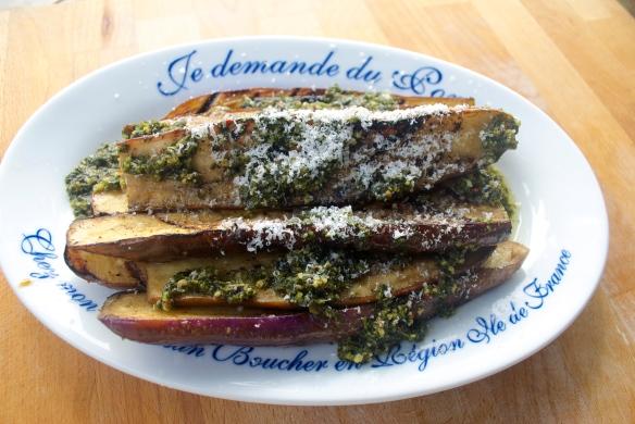 Grilled Japanese eggplant w. Chimichurri