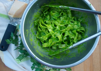 Parsley Almond Pesto w. Pasta