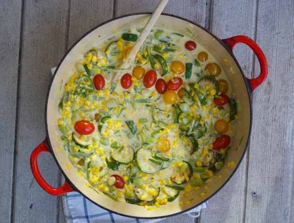 Summer Succotash (a la April Bloomfield)