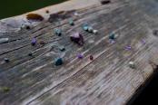 Got some pretty gemstones (amethyst and garnet)