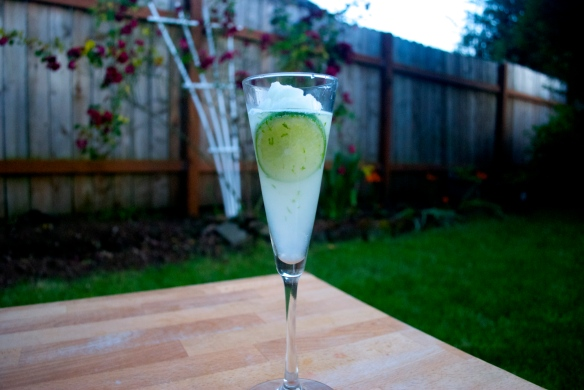 Gin Fizz w. Lime Sorbet