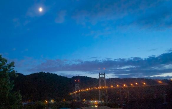 View of the St. John's Bridge from DB's balcony