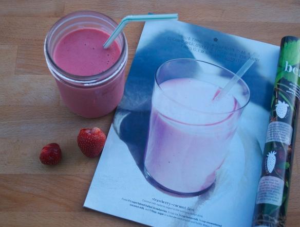 Strawberry Coconut Lassi