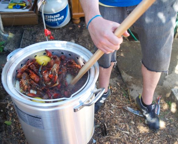 Backyard Crawfish Boil