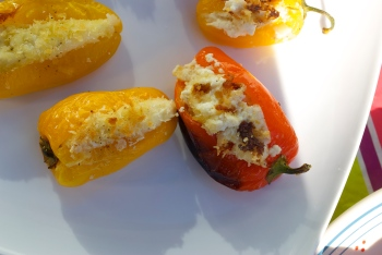Ricotta & Parmesan Stuffed Sweet Peppers