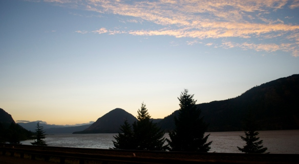 Sunset in Hood River, OR
