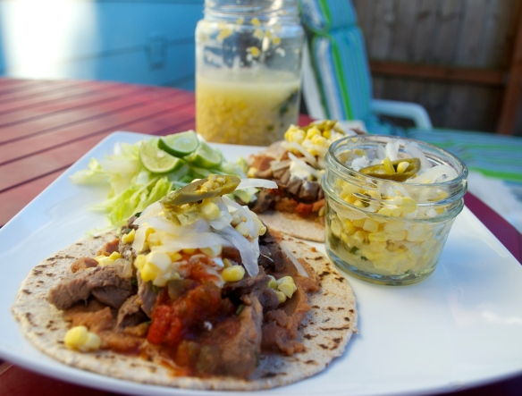 Pork Tacos w. Pickled Corn