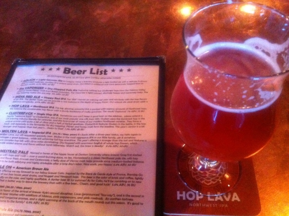 Double Mountain's Lulu -- a pink saison flavored with pink peppercorns, hibiscus and rosebuds