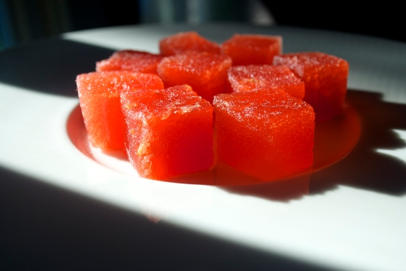 Compressed watermelon
