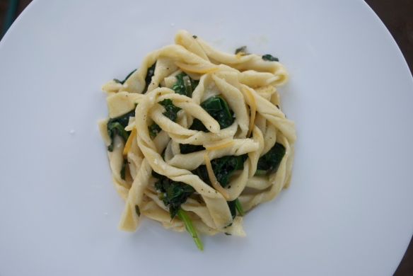 Strozzapreti w/ Preserved Lemon and Spinach