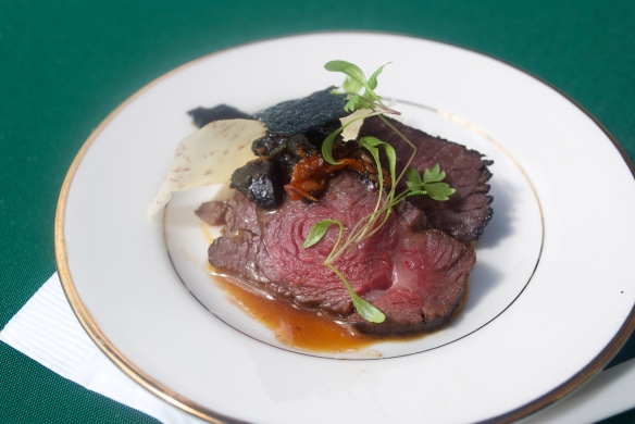 SRF Kobe beef, black garlic and crispy nori