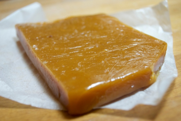 Slab of caramel