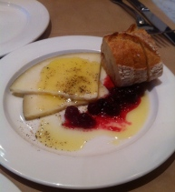 Yarmuth Farms Dylan goat's milk cheese with olive oil and cranberries
