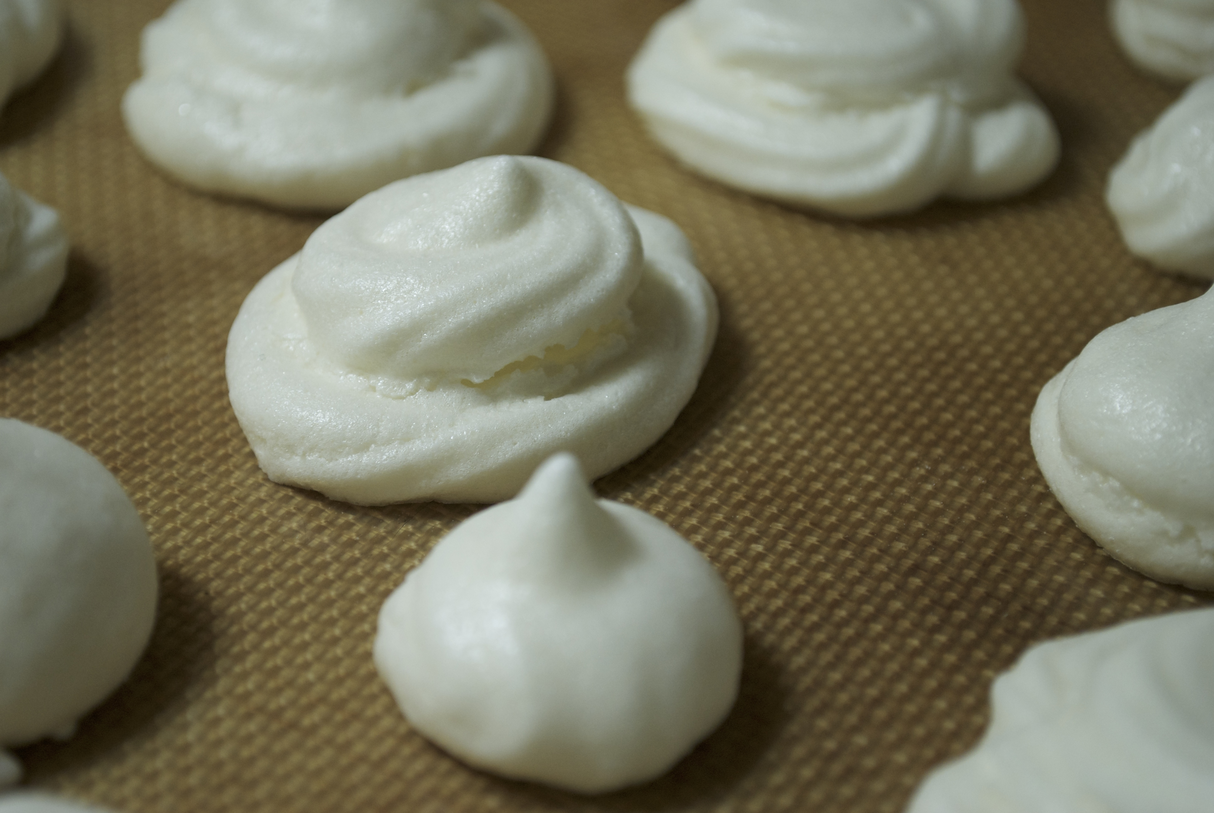 Chocolate Dipped Peppermint Meringue Cookies | Attempts in Domesticity