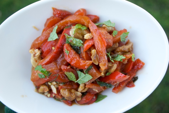 red pepper and walnut relish