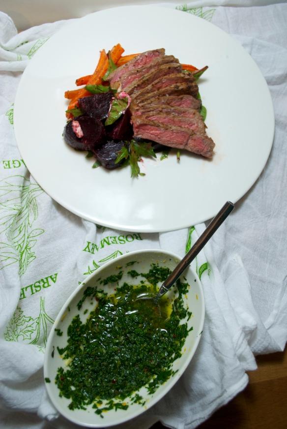 Steak w. Orange Parsley Chimichurri, FLC 2014