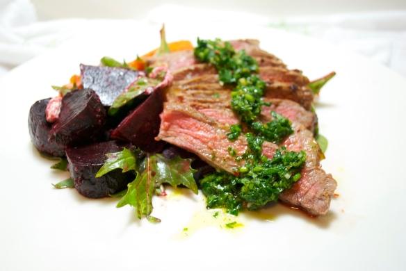 Steak w. Orange Parsley Chimichurri