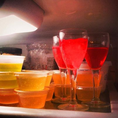 Every shelf in my fridge had Jello on it!