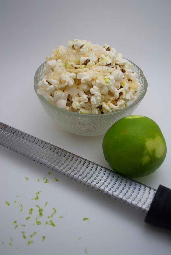 Sweet & Salty Lime & Coconut Popcorn