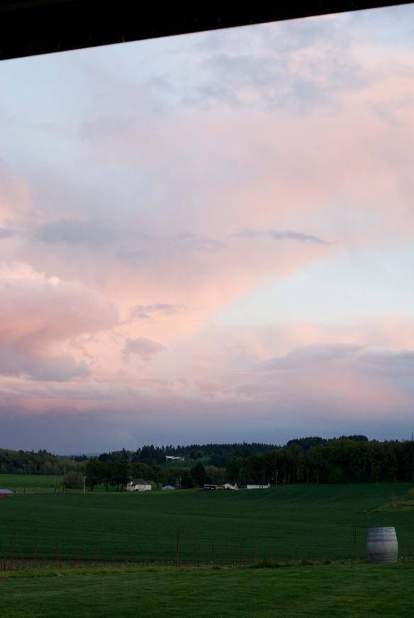 Sunset in Dayton, OR