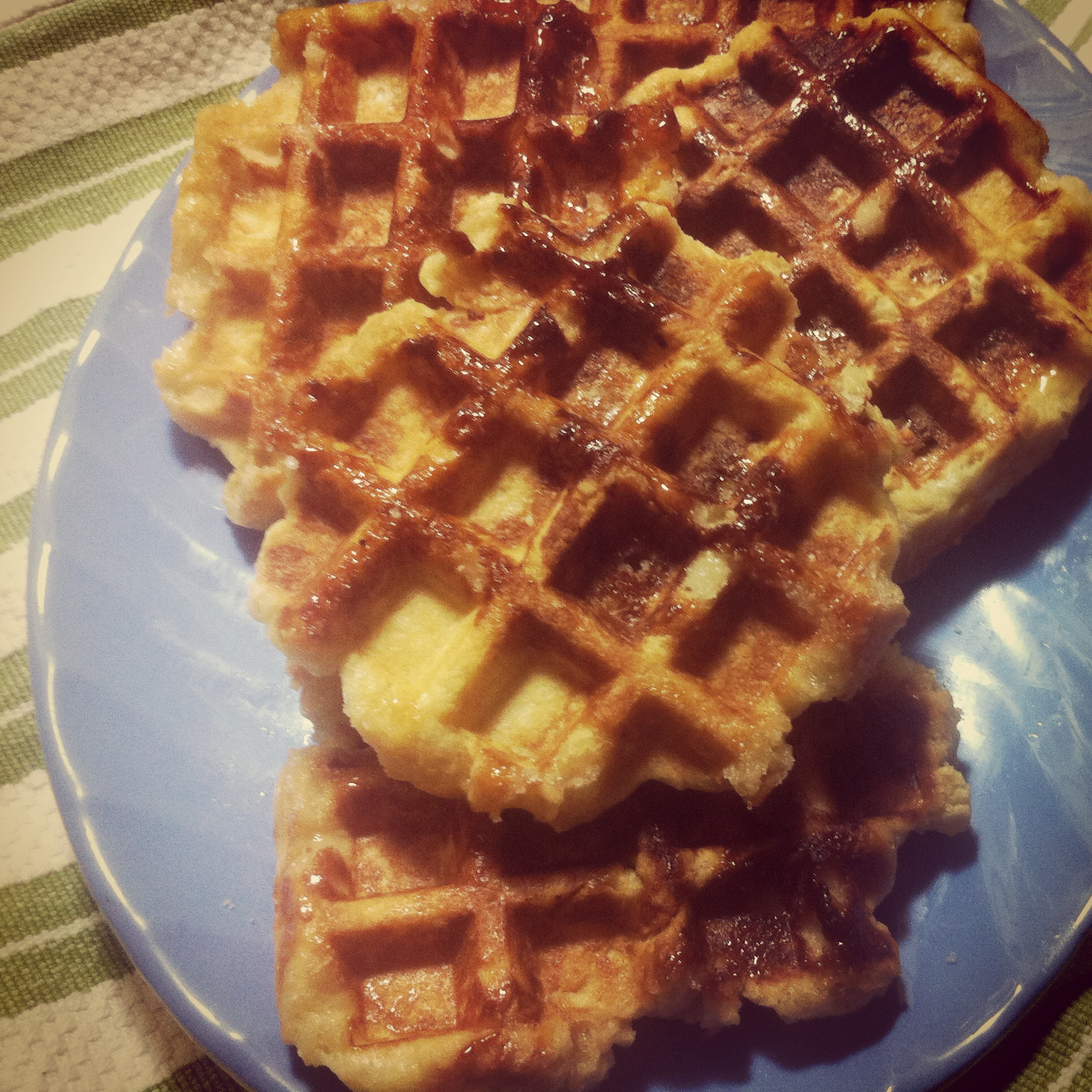 Liege Waffles with Bacon