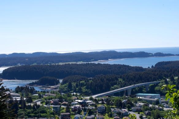 View of Near Island, AK from Pillar Mountain