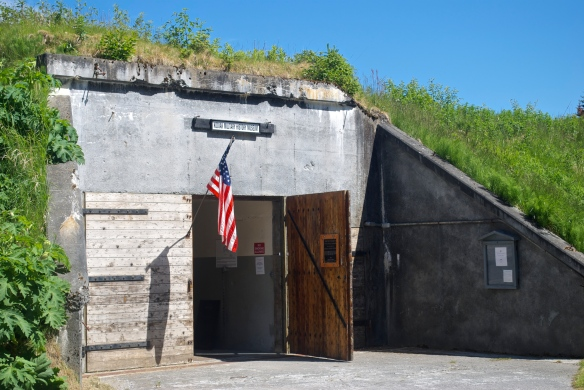 This ammunition bunker on Miller Point is now a WWII museum.