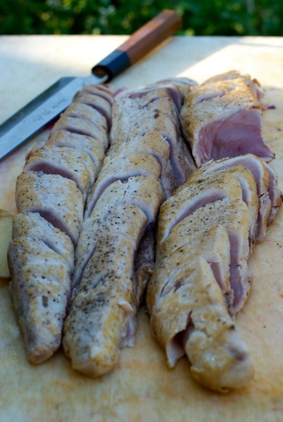 Seared and chilled Albacore tuna