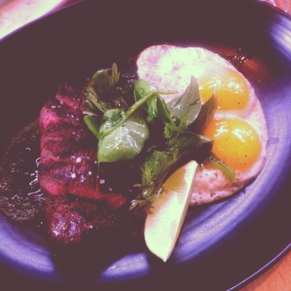 Brunch at Joule, Coulotte with eggs