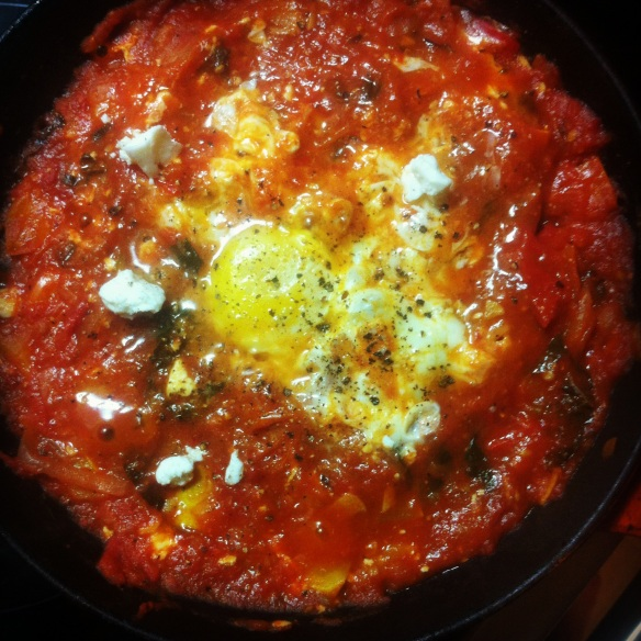 Shakshuka with homegrown tomatoes