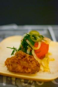 Fried Chicken, Compressed Watermelon
